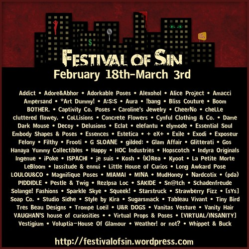Festival of Sin - poster _ store list