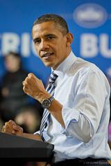 President Obama at Master Lock by Philgarlic