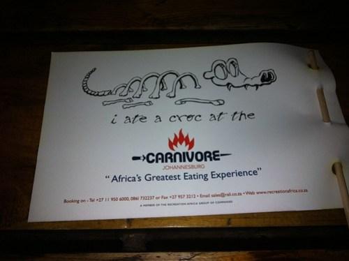 I ate a croc