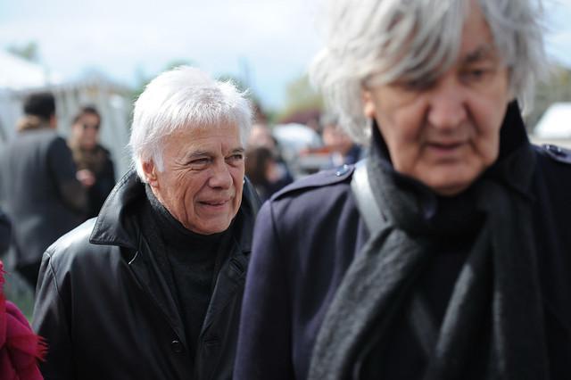 Guy Bedos et Jacques Higelin à Vincennes, avec François Hollande