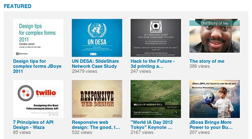 Slideshare feature