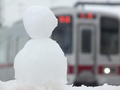 雪だるまと30000系