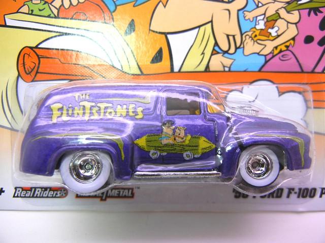 hot wheels hanna barbera flinstones '56 ford f100 panel  (2)