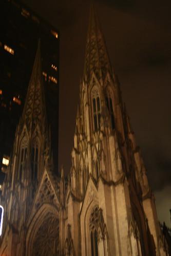 St. Patrick's at night