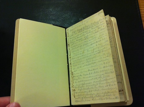Howard Forrer's Civil War diary, first page, Feb. 1864