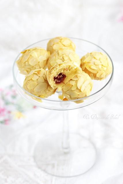 Biscuits moelleux aux amandes et griottes