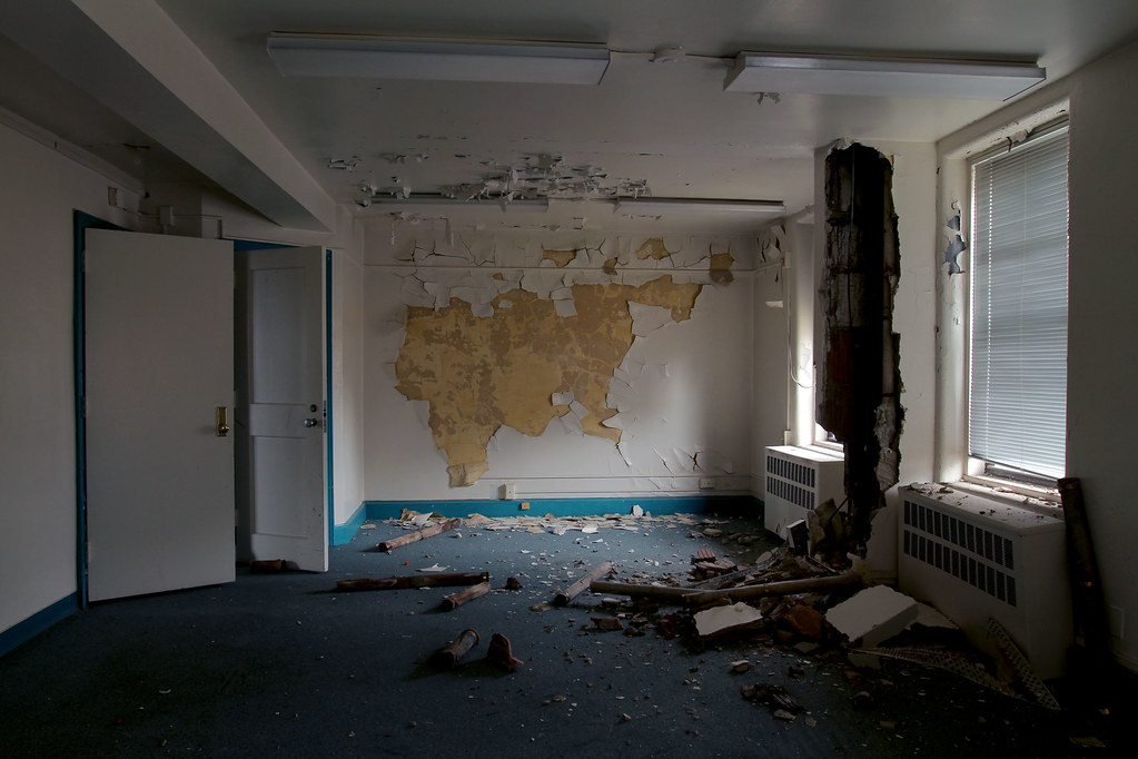 Gutted Bayley Seton Hospital Room