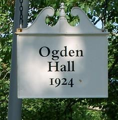 Ogden Hall Sign