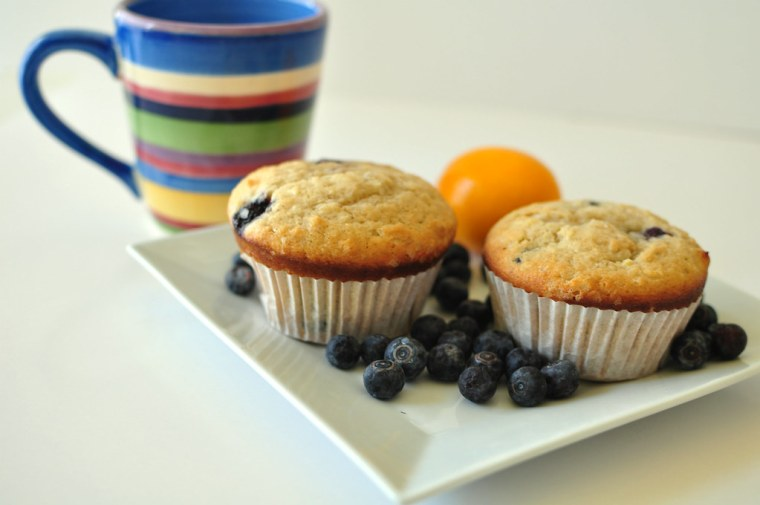 Whole Lemon Blueberry Muffins