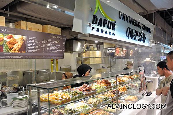 Dapur Padang Indonesian Padang stall