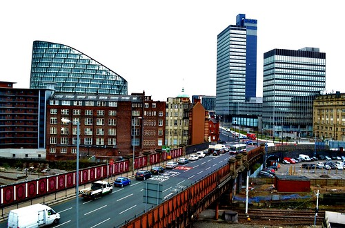 Views from Car Park Rooftop, Manchester by Angela Seager