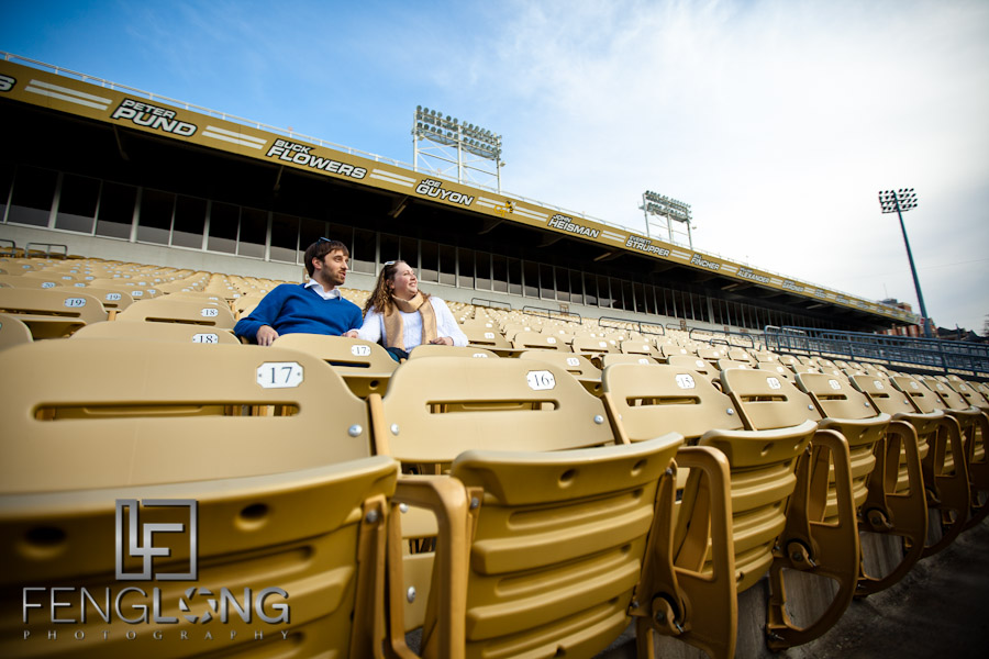 Brittany & Jarrett's Engagement Session | Bobby Dodd Stadium & Georgia Tech & Piedmont Park | Atlanta Wedding Photographer