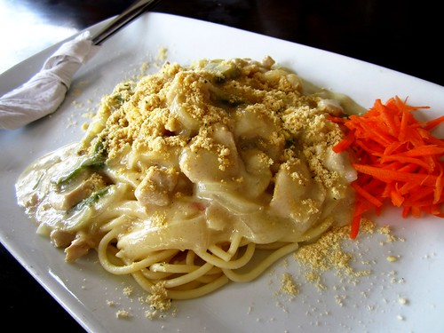 Payung spaghetti carbonara