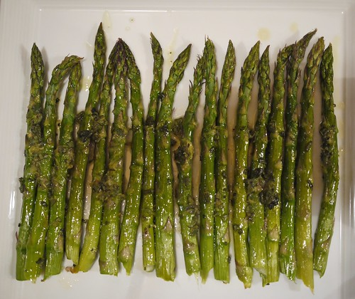 Roasted Asparagus Salad - Dressed