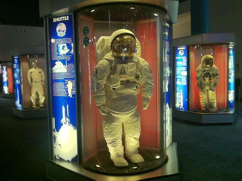 Space suits at Space Center Houston