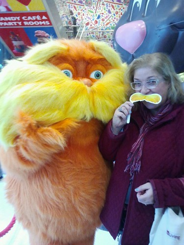 Dianne and the Lorax at Dylan's Candy Bar