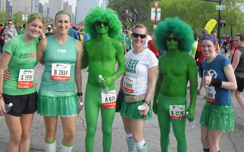 Green Men at the Shamrock Shuffle