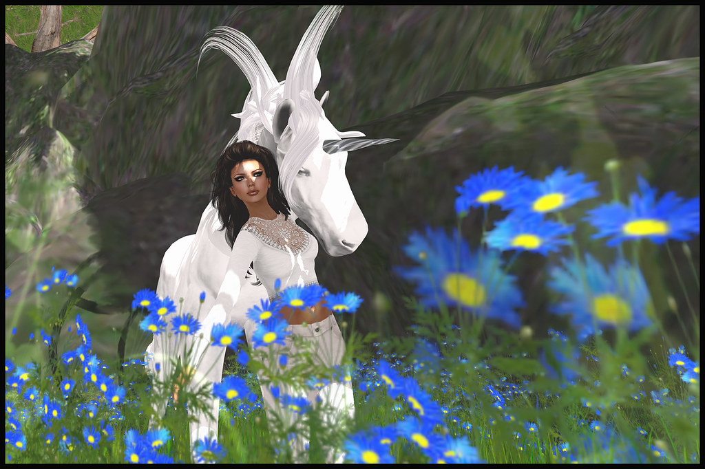 Friendly Resident Unicorn at Feast Second Life