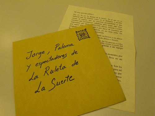 Carta de La Ruleta
