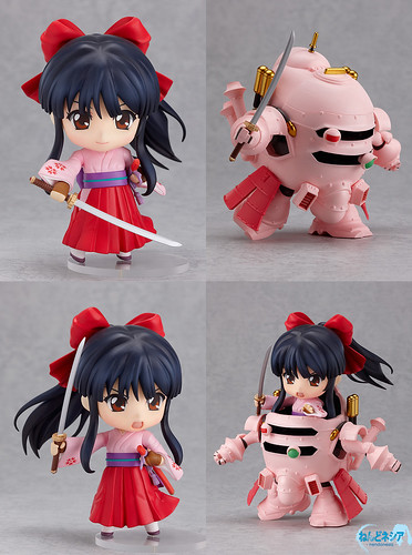 Nendoroid Shinguji Sakura and Koubu set