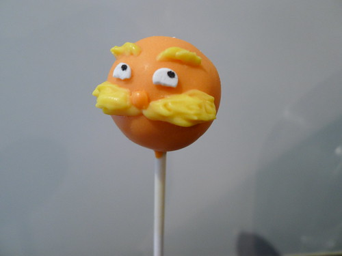 Dr. Suess' Lorax Cake Pop