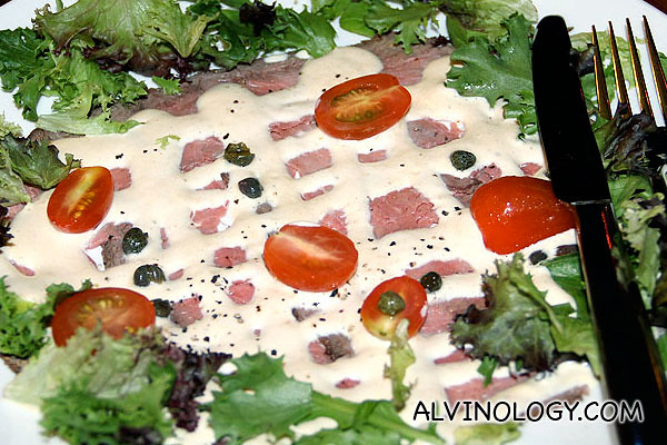 Vitello Tonnato Roast Veal Served with Tuna and Capers Sauce