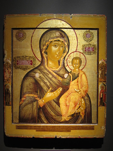 """Smolensk Mother of God"" by the monk Filaret (c. 1680), Museum of Russian Icons"