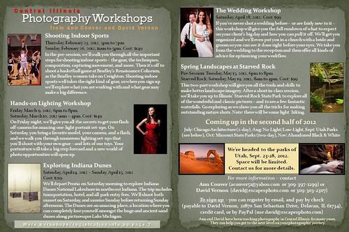 2012 Winter-Spring Workshops