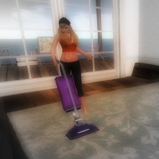 Vacuuming is for ugly people