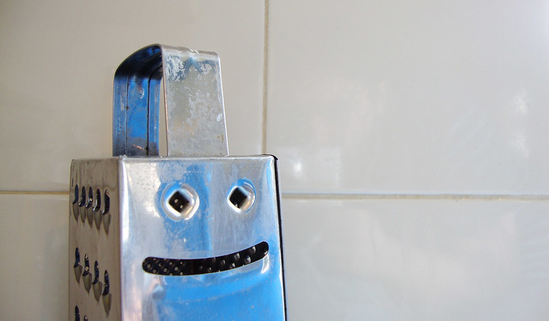 Cheese-grater smiling