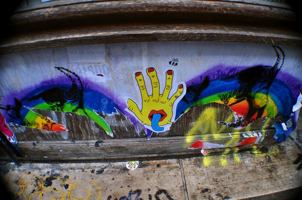 Rainbow and Yellow Hand