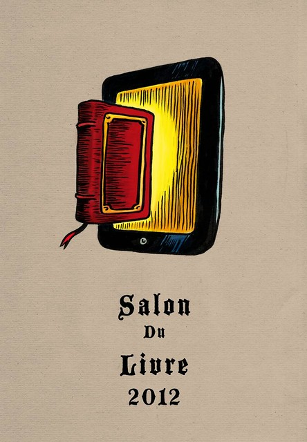 Du livre à l'ebook... (Salon du Livre de Paris) - Illustration : Gilderic