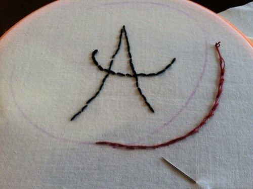 stitching by the Rooster