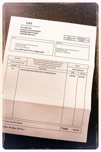 UST Invoice