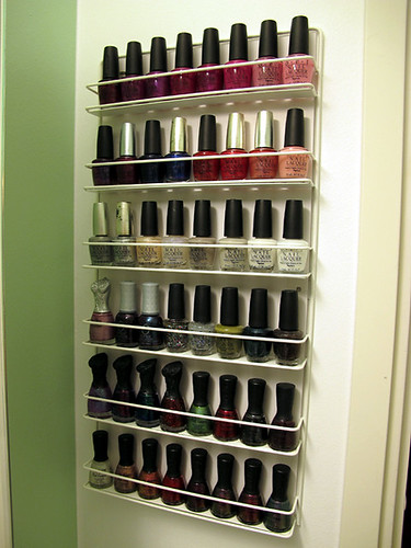 Nail polish rack (full) \o/