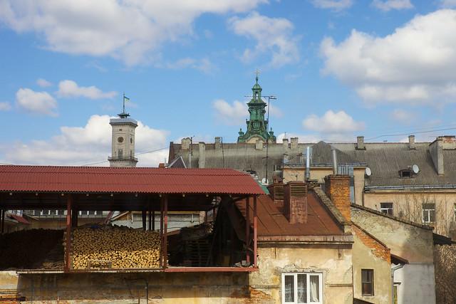 View on town hall. Lviv, Ukraine
