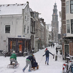 Winter games at the old Wester in Amsterdam