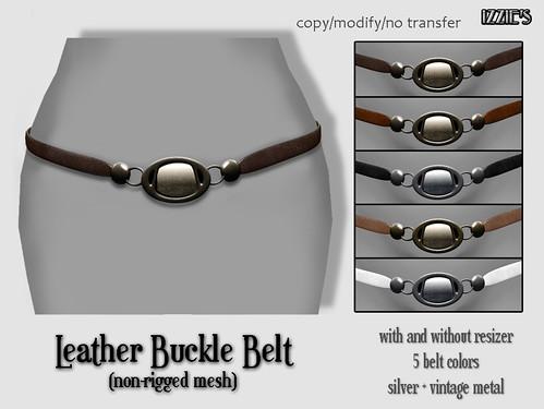 Leather Buckle Belt