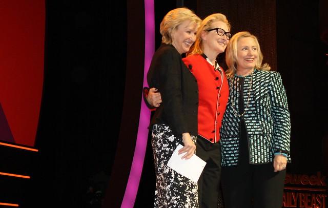 Tina Brown, Meryl Streep and Hillary Clinton Stage