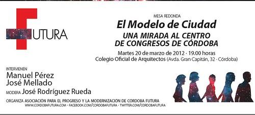 Mesa Debate sobre el Palacio de Congresos de Cordoba.