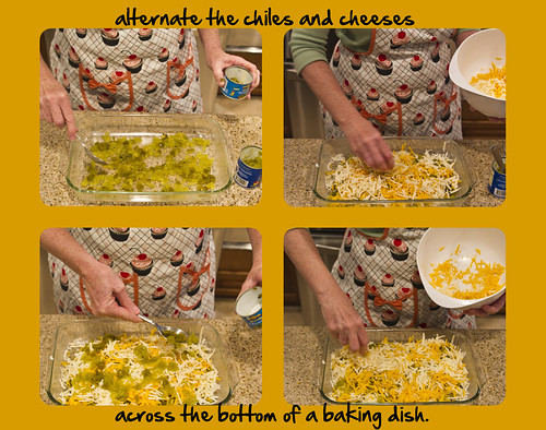 spread the chiles and cheese