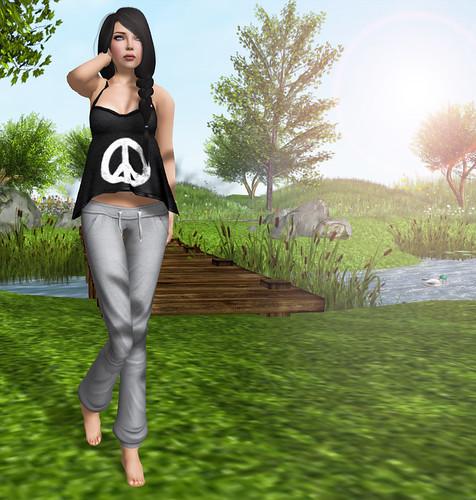 Peace Top + Sweat Pants