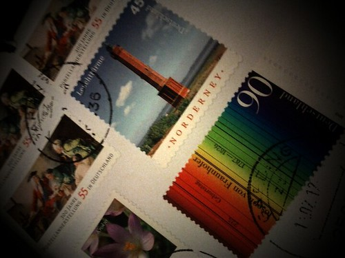 Stamps, lots of.