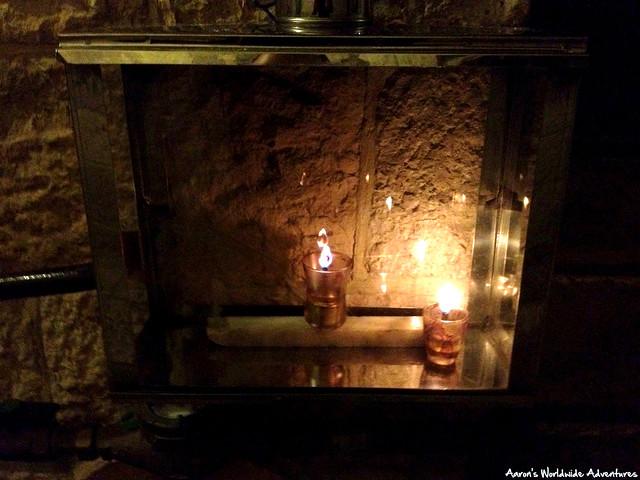 Candles Outside a Home