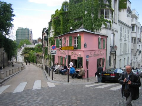 Paris Cafe on Montmartre Hill