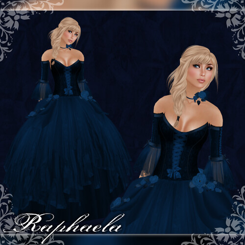 Raphaela - Gown - Marine