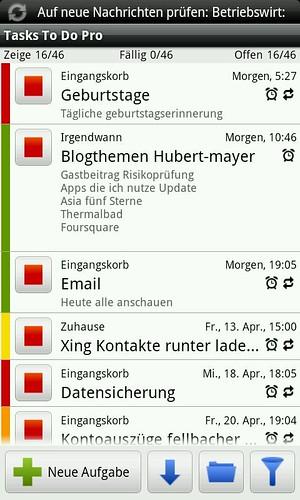 Screenshot von Tasks To Do