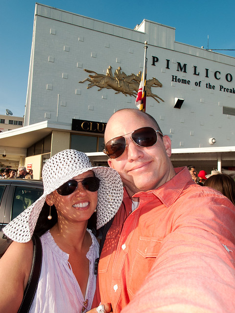 Heather and Matthew at Preakness.