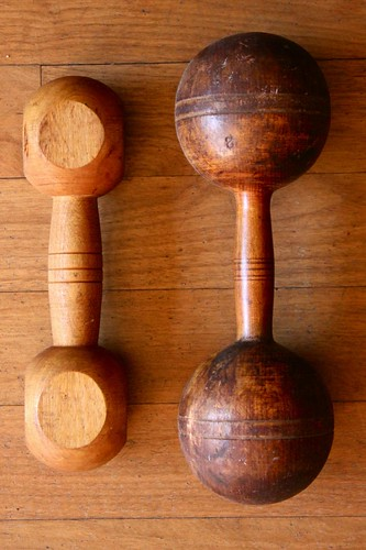 wooden barbells by denise carbonell