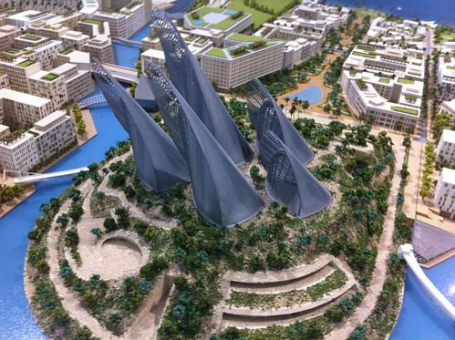 Cityscape Abu Dhabi. Sheikh Zayed Museum prototype.